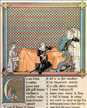 «Аденез, король менестрелей». Книжная миниатюра. 13в. Франция