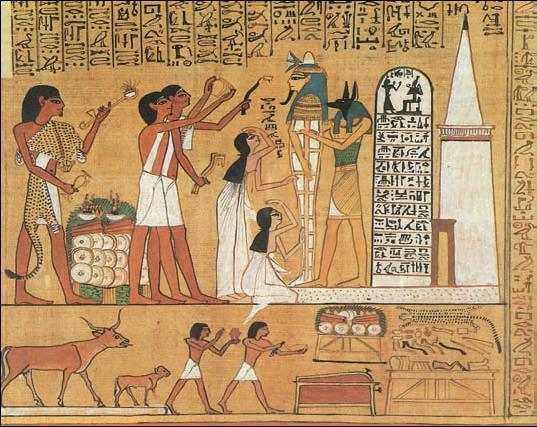 «Книга мёртвых» Хунефера. «Обряд отверзания уст и глаз». Папирус. Ок. 1310г. до н.э. Британский музей. Лондон