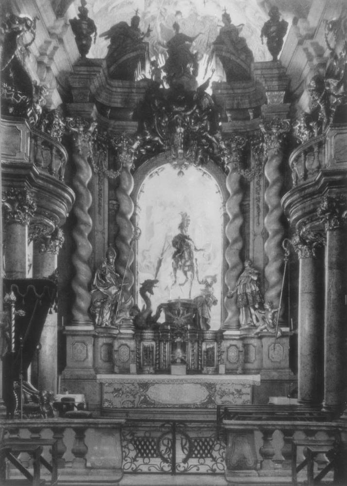 Алтарь монастырской церкви в Вельтенбурге. 1716 - 1721.