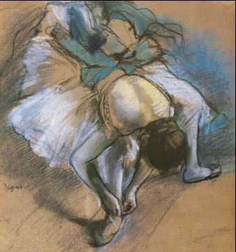 Э. Дега. «Танцовщица, завязывающая ленту туфельки». 1880г.