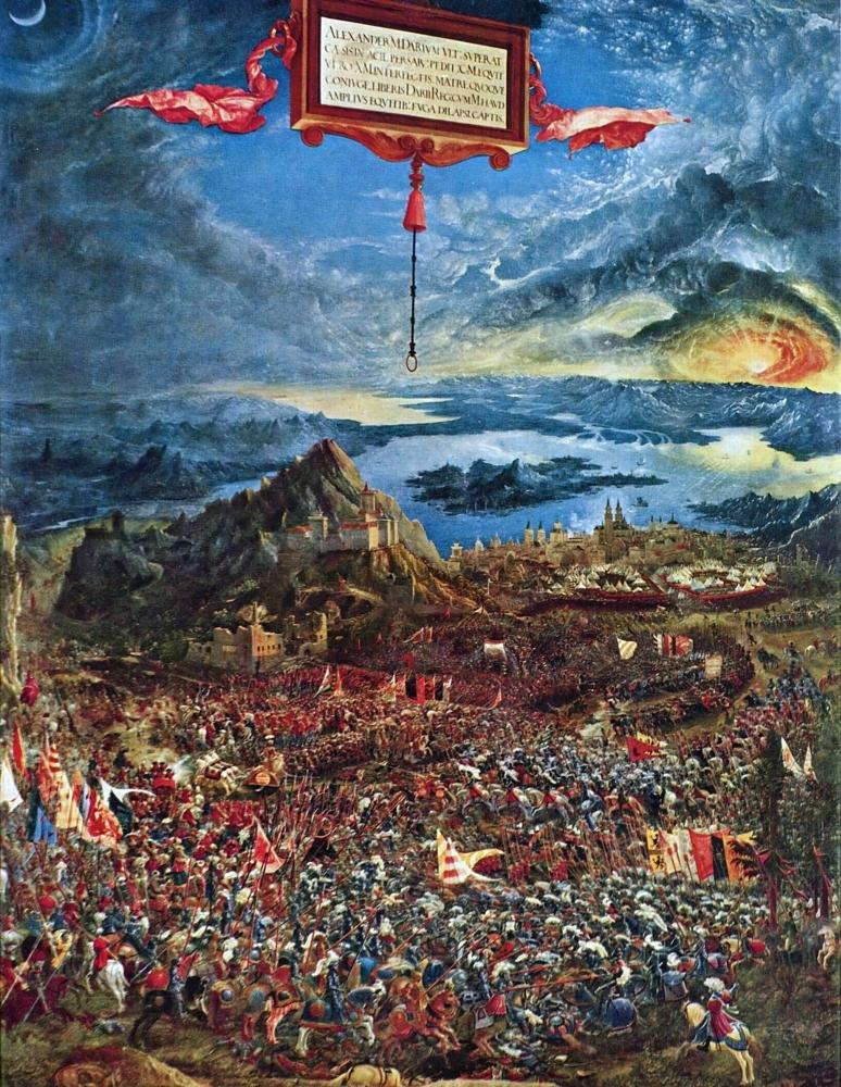 Битва Александра Македонского с Дарием. 1529. Старая пинакотека. Мюнхен