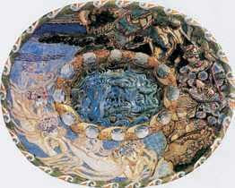 М. А. Врубель. Декоративное блюдо «Садко». Майолика. 1896–1901гг. Частное собрание. Москва