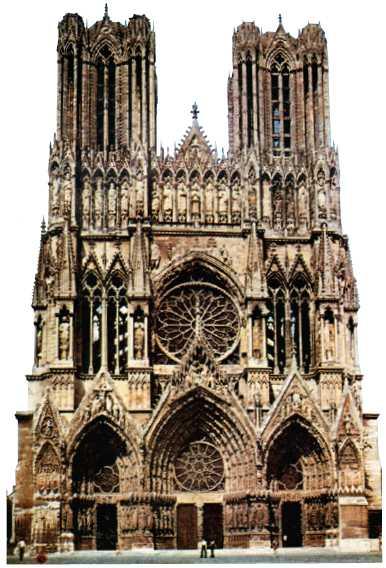 Собор в Реймсе. Фасад. 1211–1311гг.