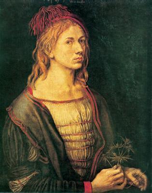 А. Дюрер. «Автопортрет». 1493г. Лувр. Париж