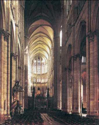Собор в Амьене. Интерьер. 1220—88гг.