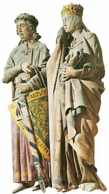 Эккехарт и Ута. Статуи западного хора собора в Наумбурге. 13в.