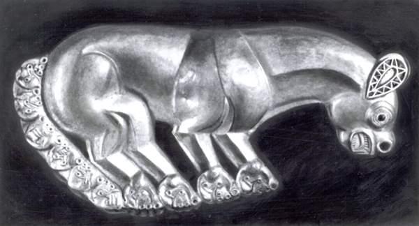 Украшение скифского щита изКелермесского кургана.