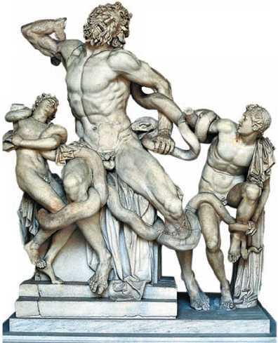 Агесандр, Афинодор и Полидор. «Лаокоон». Мрамор. 1в. до н.э. Римская копия. Музей Пио-Клементино. Ватикан