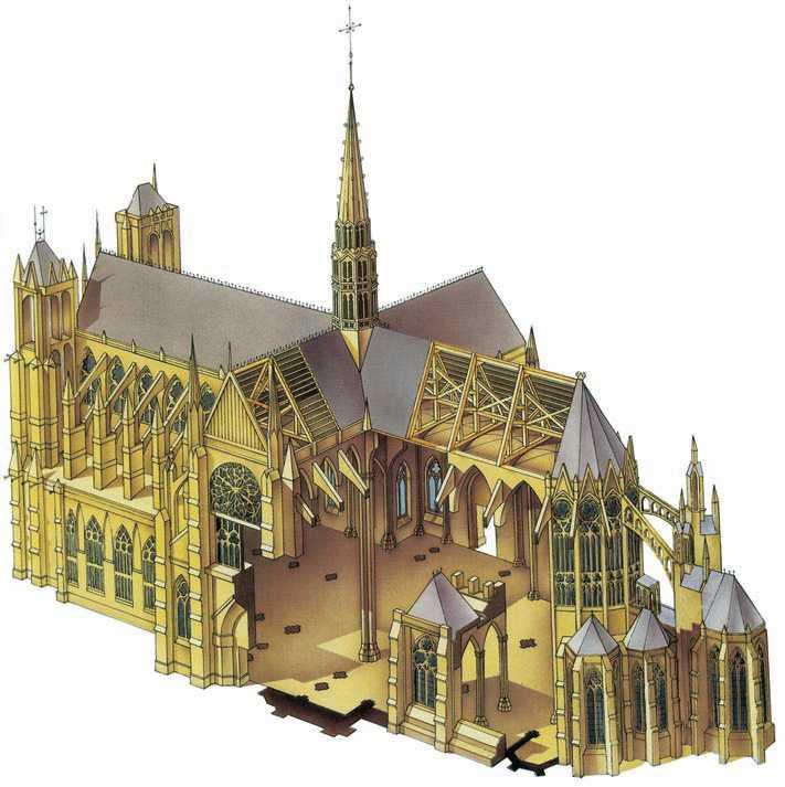 Собор в Амьене. Аксонометрия. 1220—88гг.