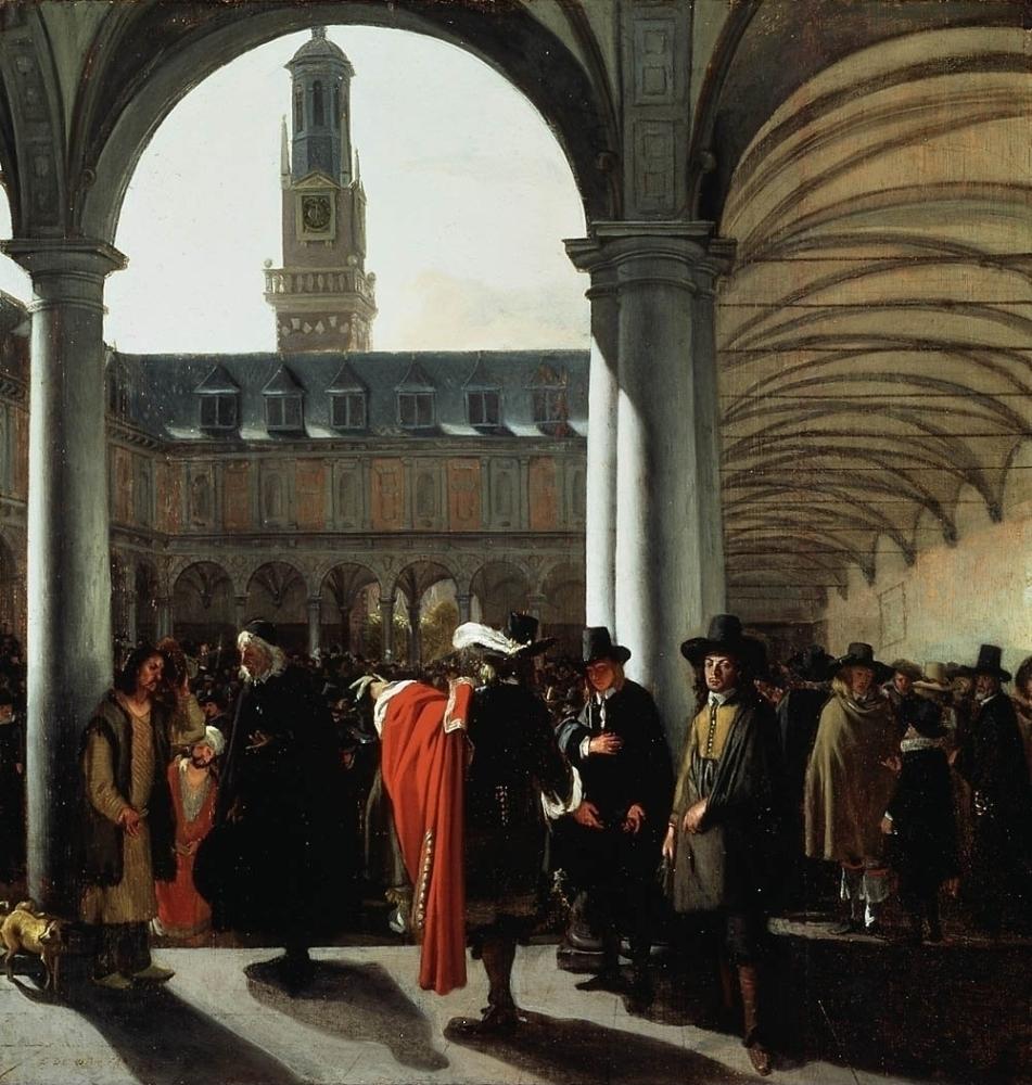De binnenplaats van de beurs te Amsterdam