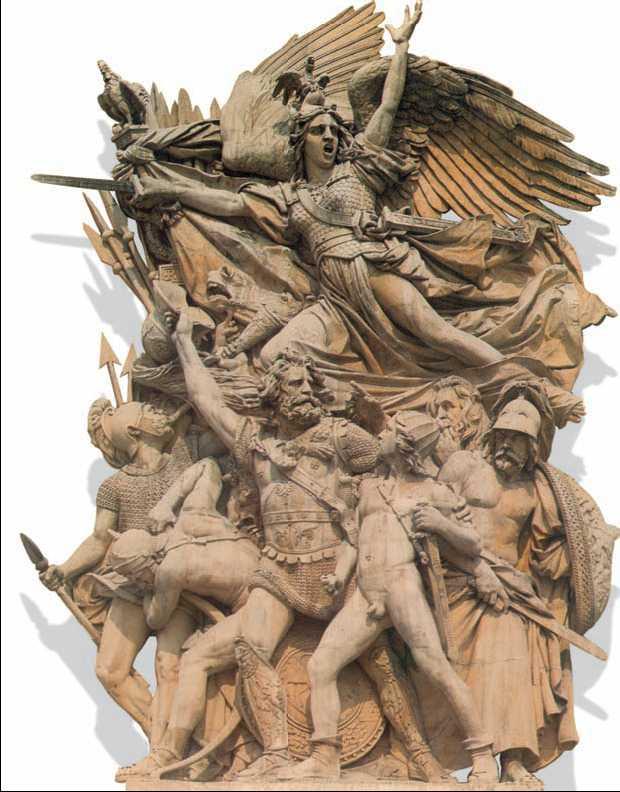 Ф. Рюд. «Марсельеза». Горельеф Триумфальной арки на площади Звезды в Париже. Камень. 1833—36гг.