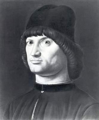 Антонелло даМессина.  Мужской портрет (так называемый