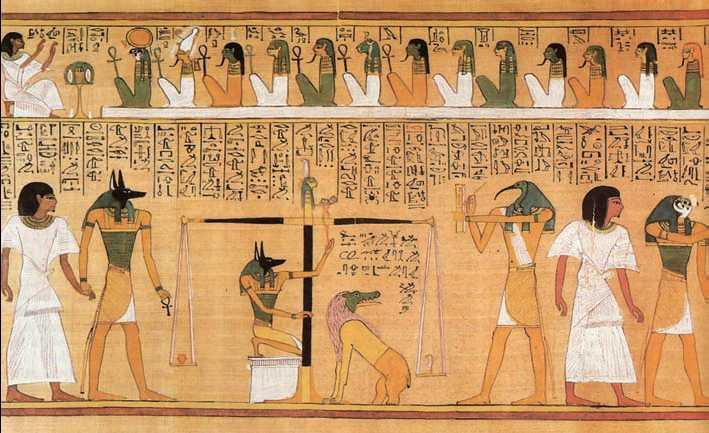 «Книга мёртвых» Хунефера. «Суд Осириса». Папирус. Ок. 1310г. до н.э. Британский музей. Лондон