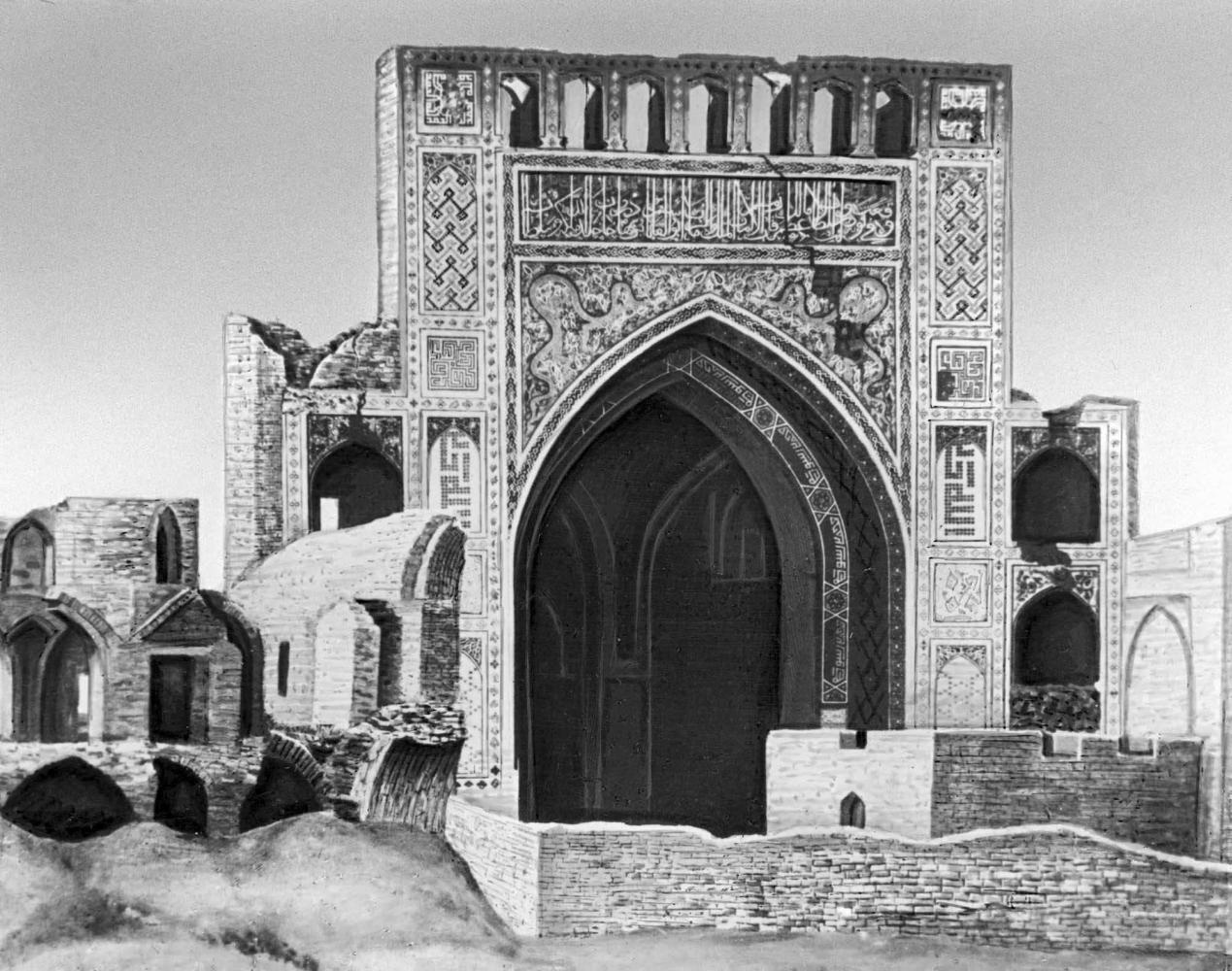 Мечеть в Аннау. 1456. Пештак. Вид до землетрясения 1948.