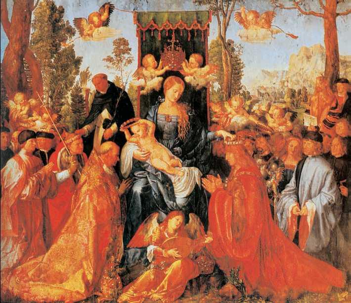 А. Дюрер. «Праздник чёток». 1506г. Национальная галерея. Прага