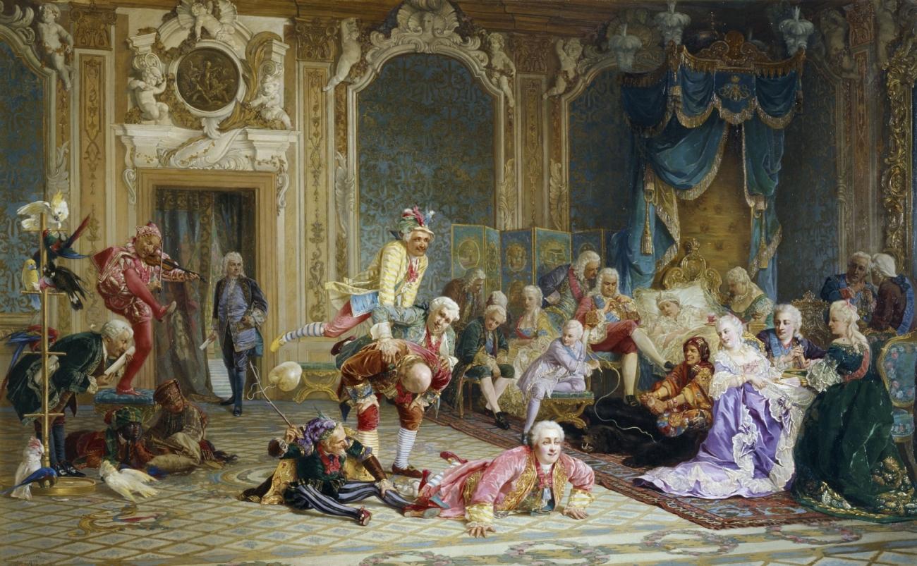 Шуты при дворе императрицы Анны Иоанновны. 1872