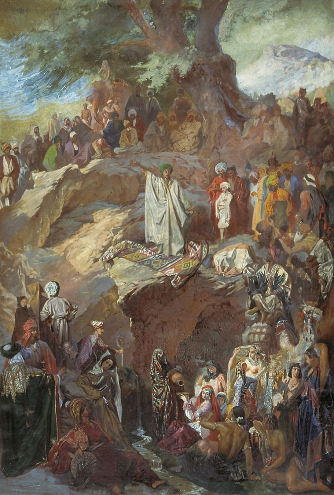 Проповедь Магомета. 1840—1850-е
