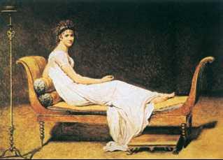 Ж. Л. Давид. «Портрет мадам Рекамье». 1800г. Лувр. Париж