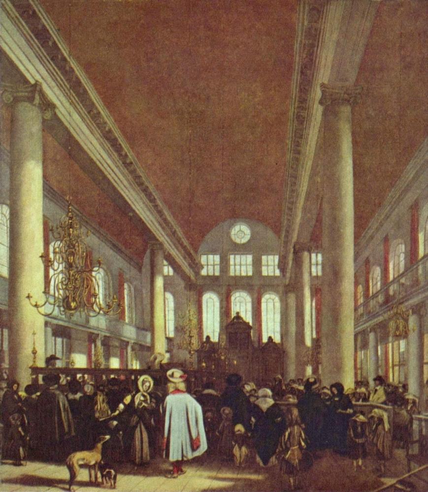 Португальская синагога в Амстердаме, 1680. Амстердам, Королевский музей