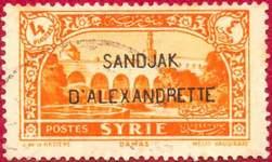 Почтовая марка Александретты