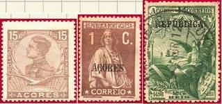 Почтовые марки Азорских о-вов