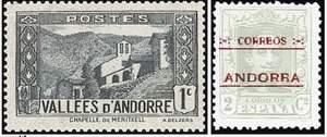 Почтовые марки Андорры