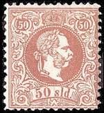 Австрийская почтовая марка для почтовых отделений в Османской империи