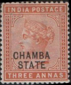 Почтовая марка княжества Чамба