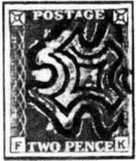 Штемпель в форме мальтийского креста (Великобритания)