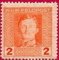 Почтовая марка австро-венгерской полевой почты