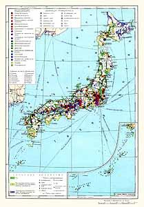 Япония. Экономическая карта