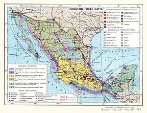 Мексика. Экономическая карта