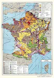 Франция. Экономическая карта