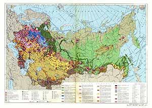 Экономическая карта СССР