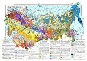 Карта растительности СССР