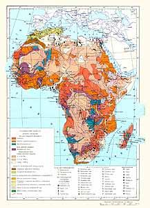 Африка. Месторождения полезных ископаемых