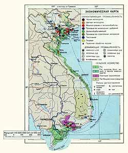 Вьетнам. Экономическая карта
