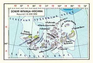 Земля Франса-Иосифа. Физическая карта