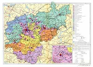 Центральные районы СССР (центральный, центрально черноземный, Волго-Вятский). Экономическая карта