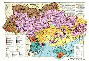 Украинская ССР, Молдавская ССР. Экономическая карта