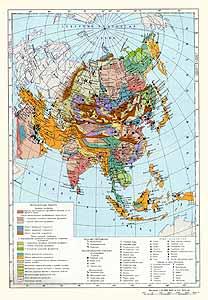 Азия. Месторождения полезных ископаемых