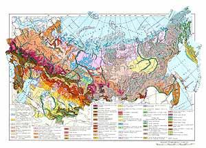 Почвенная карта СССР