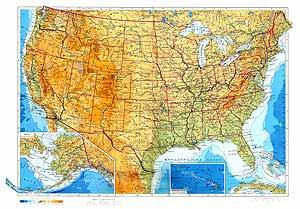 Соединенные Штаты Америки. Физическая карта