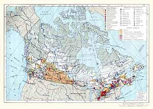 Канада. Экономическая карта