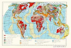 Тектоническая карта мира