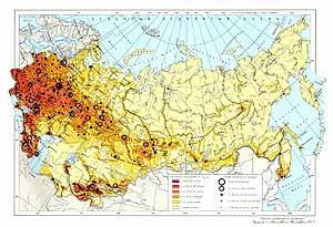 Плотность населения СССР