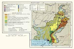 Пакистан. Экономическая карта