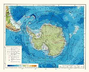 Антарктика. Физическая карта