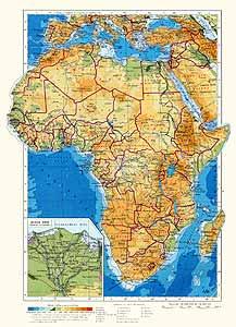 Африка. Физическая карта