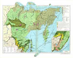 Дальневосточный район СССР. Экономическая карта